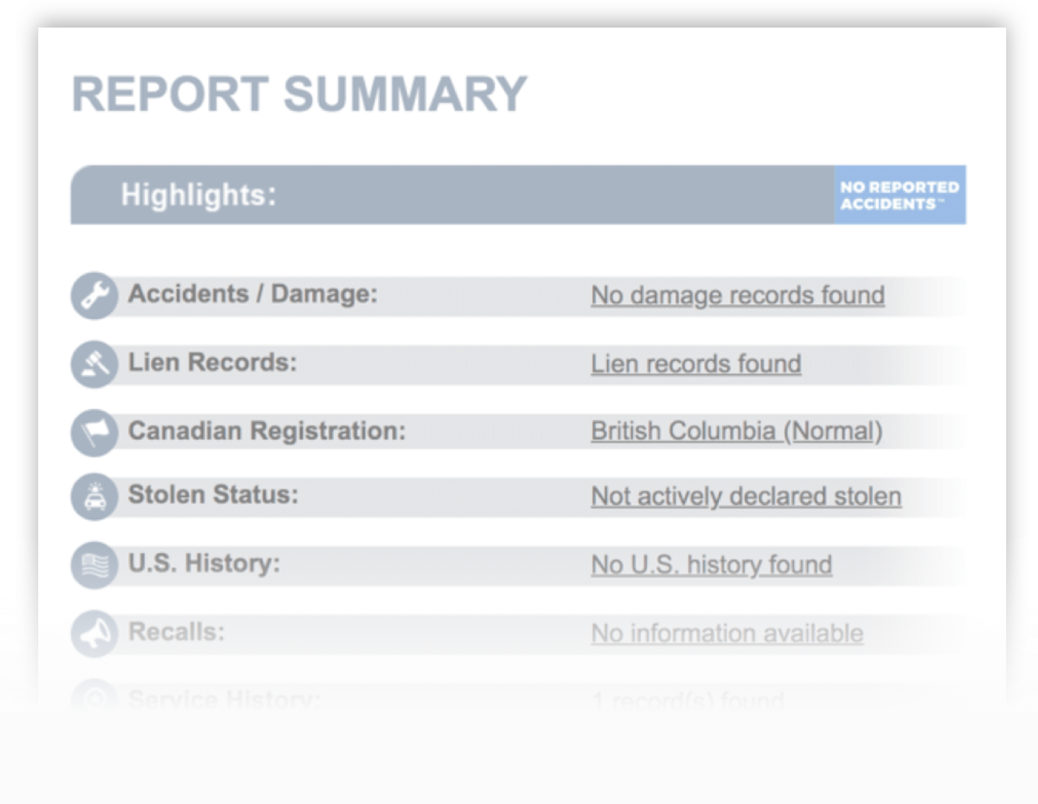 What Is Carfax Canada Report Former Carproof See Report Sample