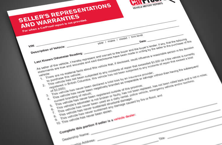 Sellers Release Form - Download the Form here | CARPROOF